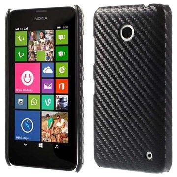Coque Rigide pour Nokia Lumia 630 Fibre de Carbone Noire