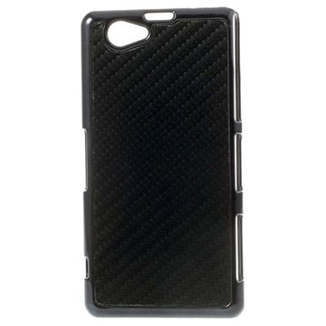 Coque Rigide en Fibre de Carbone pour Sony Xperia Z1 Compact Noire