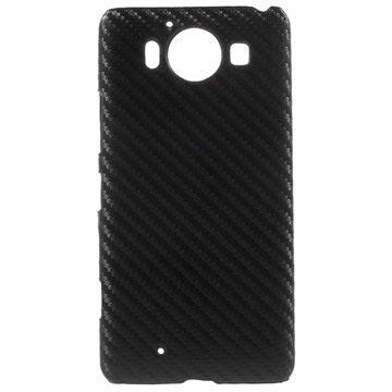 Coque Rigide pour Microsoft Lumia 950 Fibre de Carbone Noire