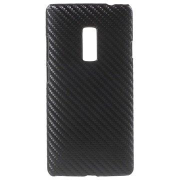 Coque Rigide pour OnePlus 2 Fibre de Carbone Noire