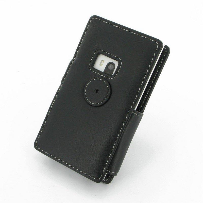 Housse en cuir pdair 3bnklmb41 pour nokia lumia 920 noire for Housse nokia 6