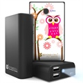 Beyond Cell Universal Dual USB Power Bank - Daisy Owl / Black
