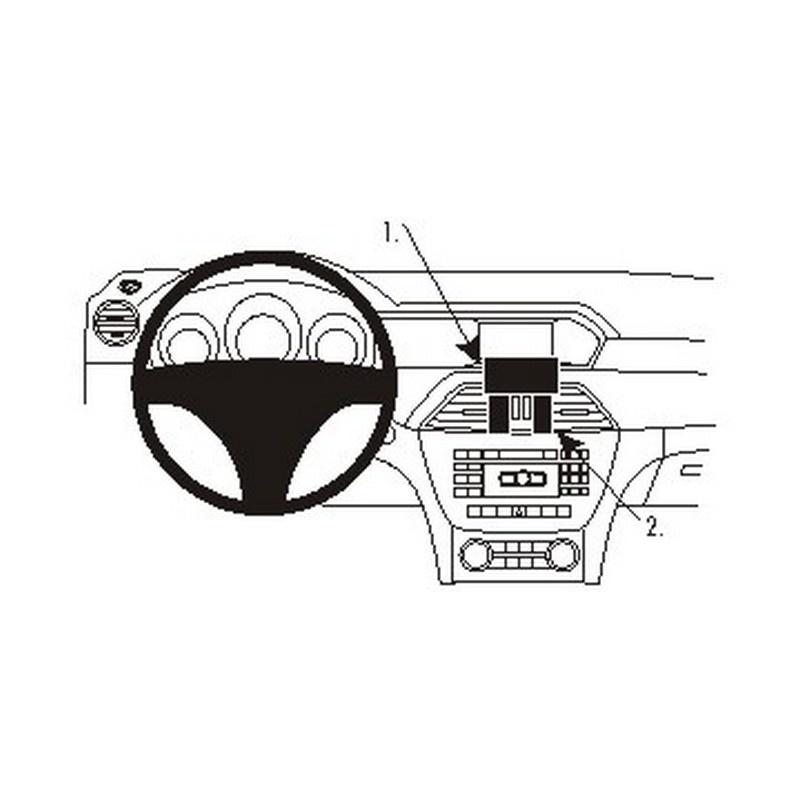 Support de fixation brodit pour mercedes benz c class 11 14 for Mercedes benz support
