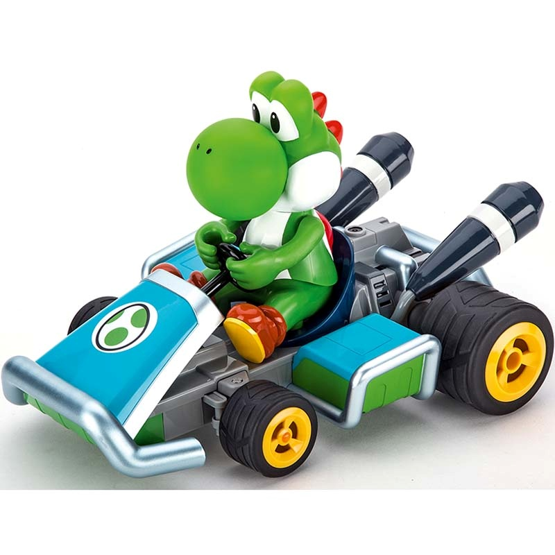 Voiture t l command e mario cart 7 yoshi 2 4ghz de carrera - Voiture mario kart 7 ...