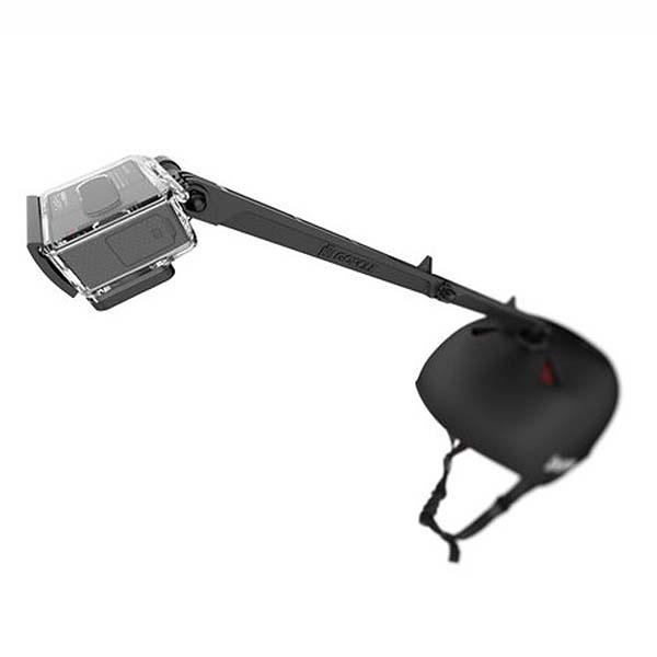 support de fixation casque gopole arm pour gopro hero. Black Bedroom Furniture Sets. Home Design Ideas
