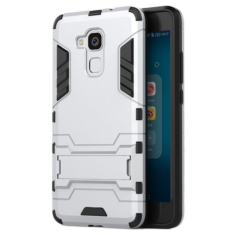 coque support amovible hybrid pour huawei honor 5c honor 7 lite argent. Black Bedroom Furniture Sets. Home Design Ideas