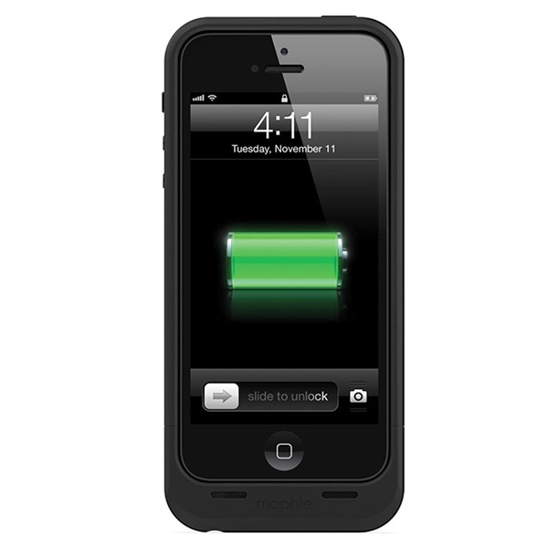 coque avec batterie int gr e mophie juice pack air pour iphone 5 5s se noire. Black Bedroom Furniture Sets. Home Design Ideas
