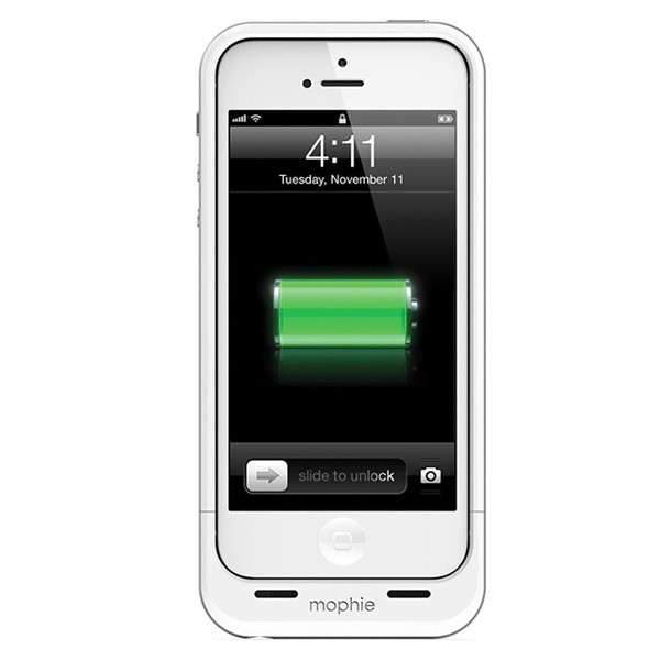 coque avec batterie int gr e mophie juice pack air pour iphone 5 5s se blanche. Black Bedroom Furniture Sets. Home Design Ideas