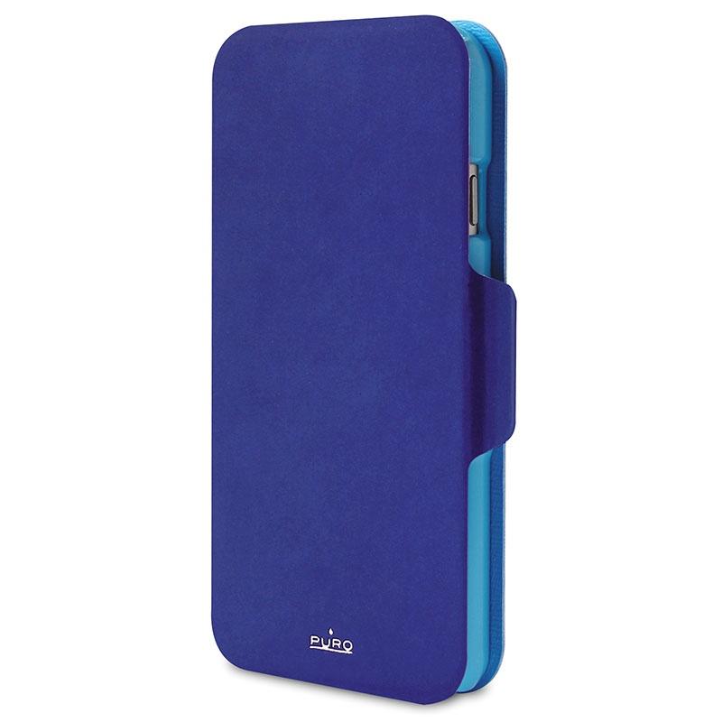 Etui portefeuille bicolore puro pour iphone 6 6s bleu for Etui iphone 6 portefeuille