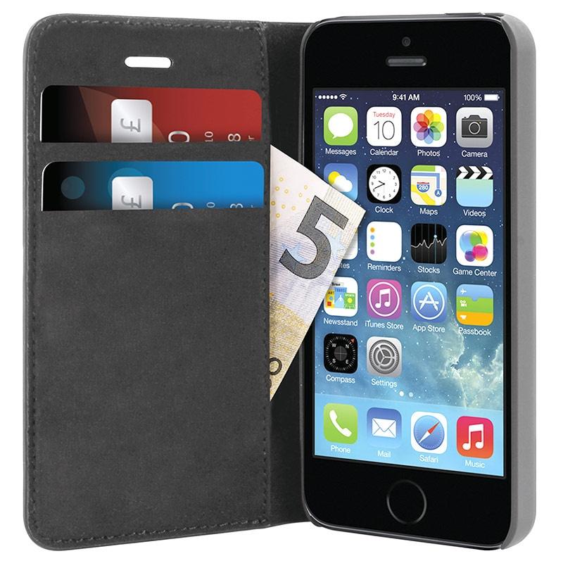 etui portefeuille puro pour iphone 5 5s se noir. Black Bedroom Furniture Sets. Home Design Ideas