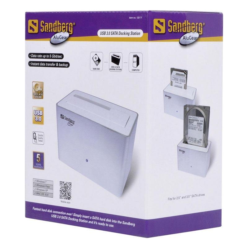 Station d'accueil Sandberg USB 3.0 SATA