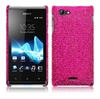 Coque Clipsable Diamante pour Sony Xperia J - Rose Vif