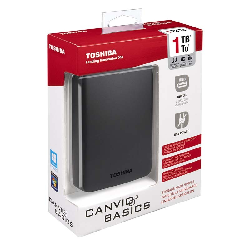 disque dur externe toshiba hdtb310ek3aa canvio basics 2 5 1to noir. Black Bedroom Furniture Sets. Home Design Ideas