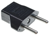 Power Adapter US 2 Pin Socket to EU 2 Round Pin