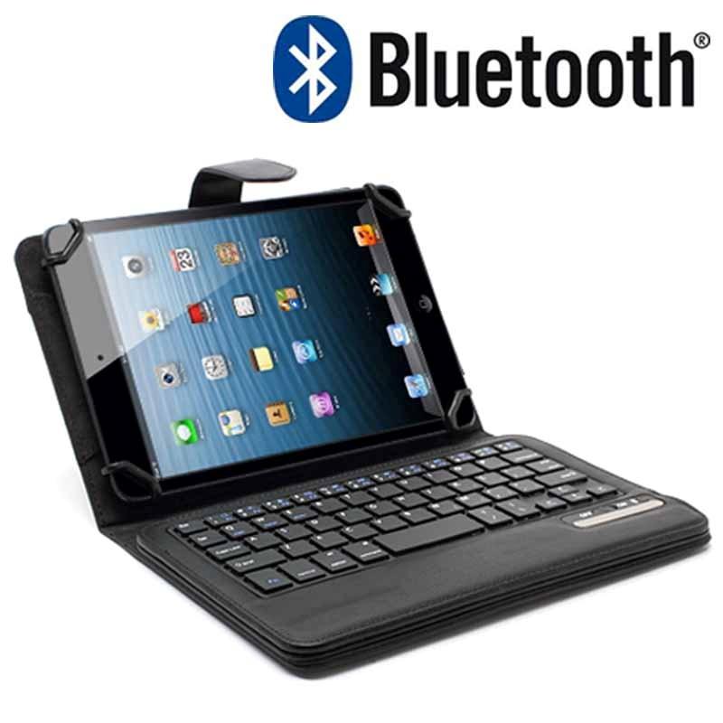 etui universel avec clavier bluetooth pour tablette 7 8 noir. Black Bedroom Furniture Sets. Home Design Ideas