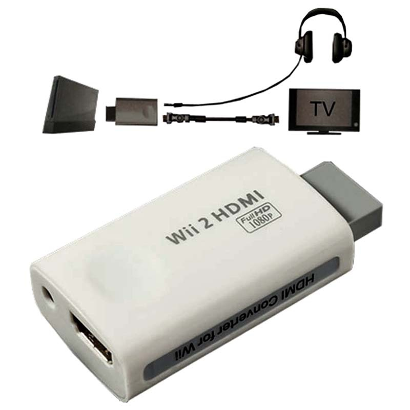 adaptateur convertiseur hdmi audio full hd pour wii blanc. Black Bedroom Furniture Sets. Home Design Ideas