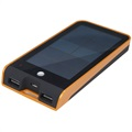 Xtorm Basalt AM118 Solar External Battery / Power Bank - Black / Orange