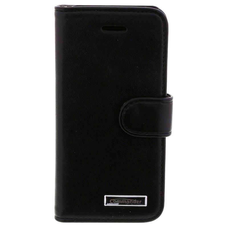 etui en cuir commander book elite pour iphone 5 5s se noir. Black Bedroom Furniture Sets. Home Design Ideas