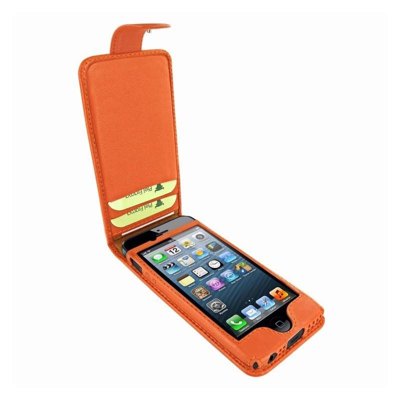 etui en cuir avec bouton pression piel frama pour iphone 5 5s se orange. Black Bedroom Furniture Sets. Home Design Ideas