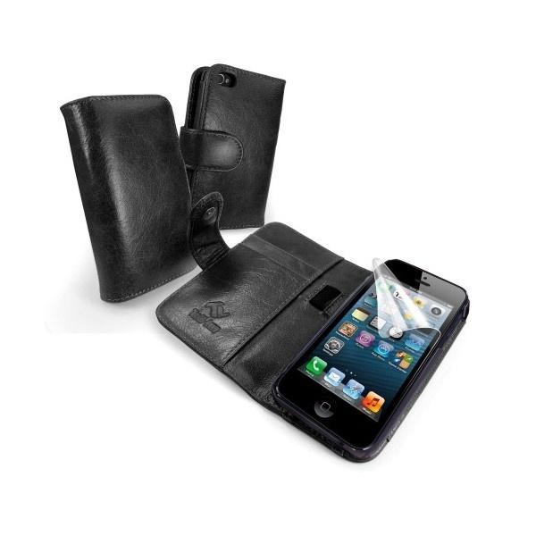 etui portefeuille en cuir tuff luv vintage pour iphone 5 5s se noir. Black Bedroom Furniture Sets. Home Design Ideas