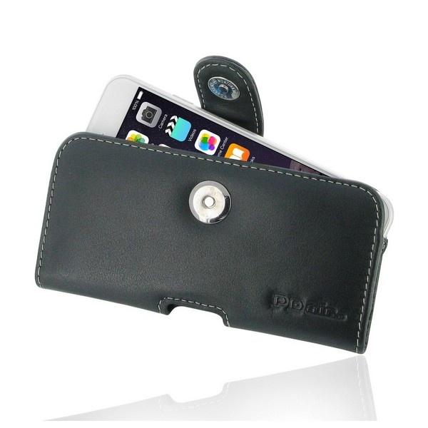 Housse en cuir horizontale pdair pour iphone 6 6s noire for Housse cuir iphone 6